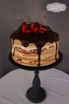 Four layered naked cake