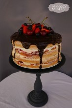 Four layered naked cake
